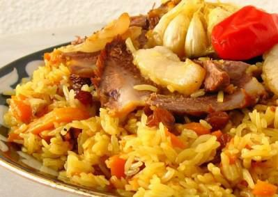 Рублёная баранина в специях с ароматным индийским рисом басмати